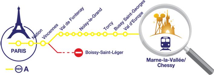 RER до Диснейленда