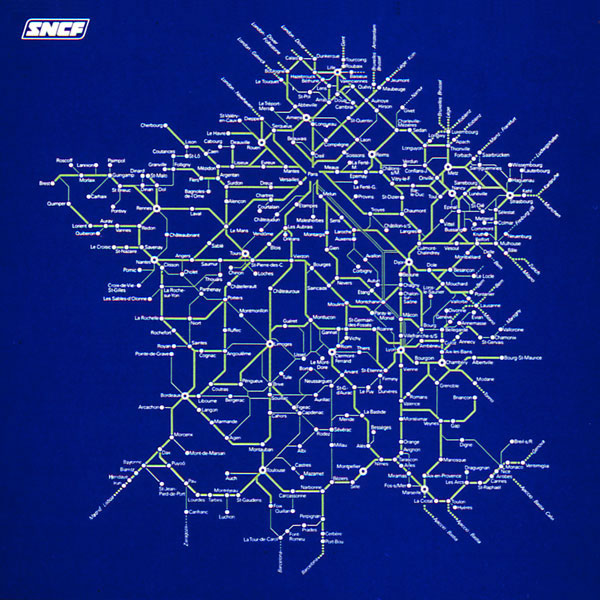 Схема движения поездов во