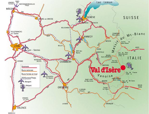 как добраться до Валь д'Изер