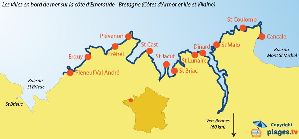 изумрудный берег, Бретань, Франция