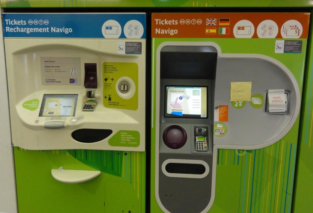 автомат по продаже билетов на транспорт в париже