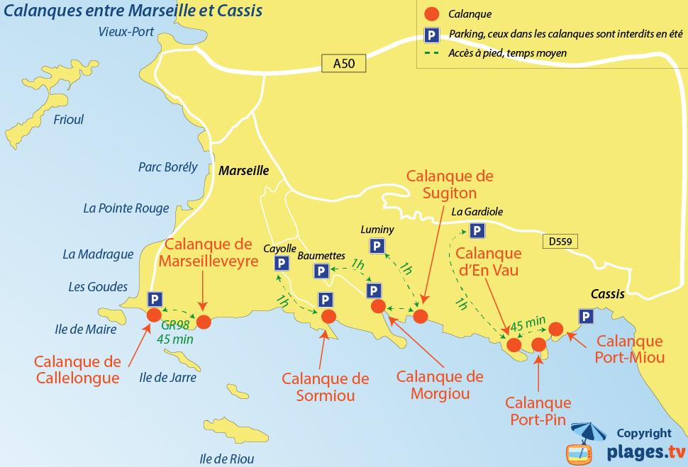 карта бухт марселя