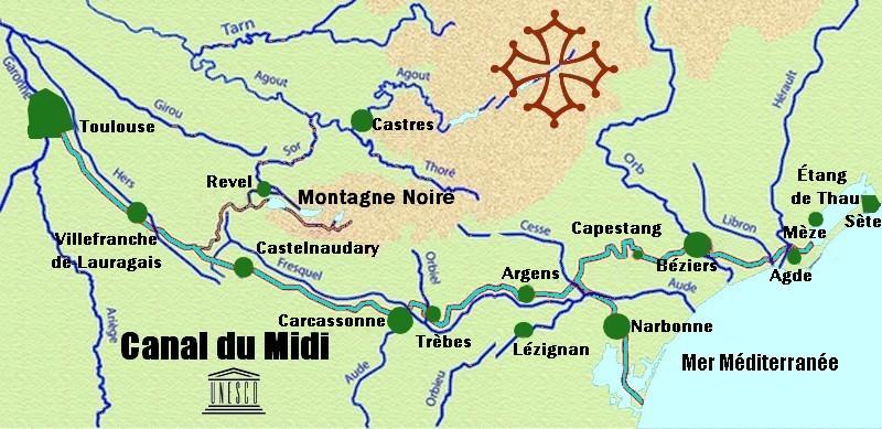 карта южного канала
