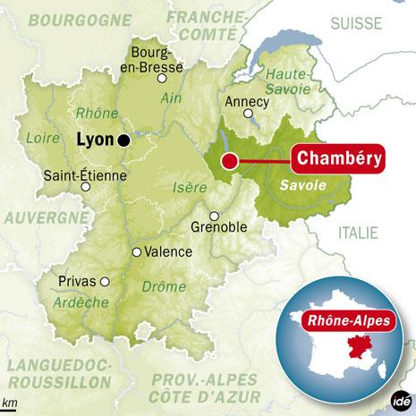 шамбери на карте франции