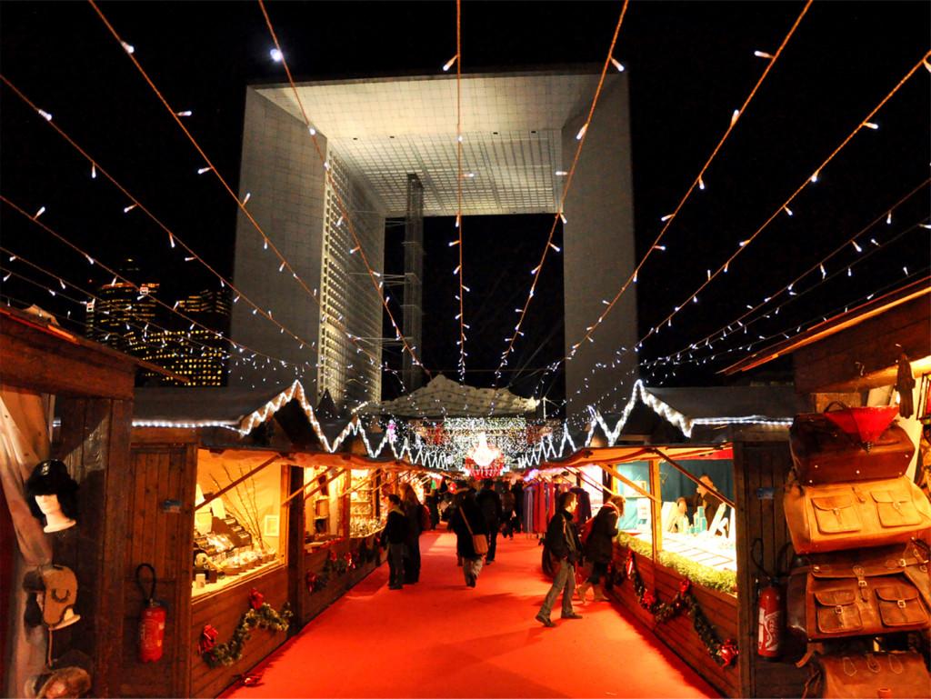 рождественский рынок на дефанс
