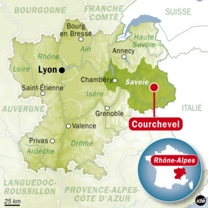куршевель на карте франции