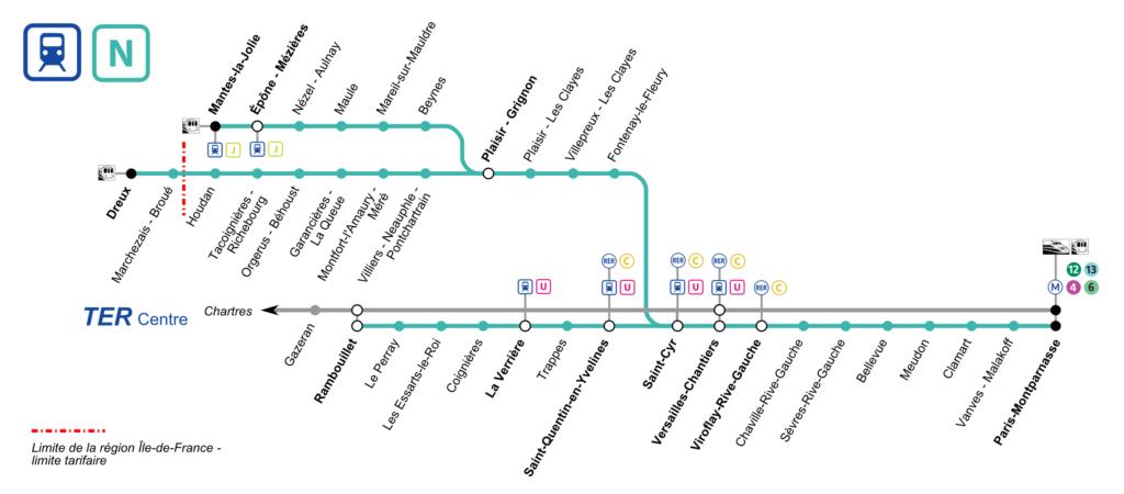 схема линии N