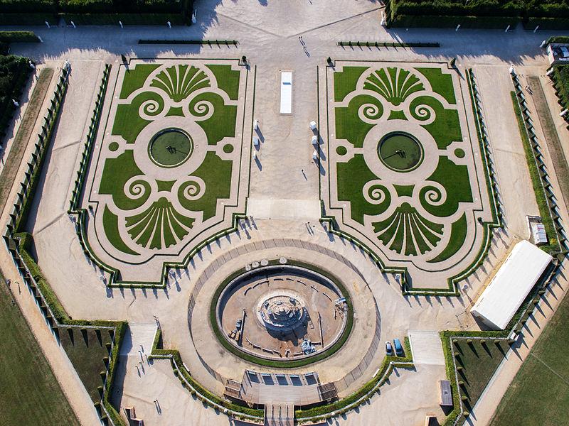сады версаля с неба