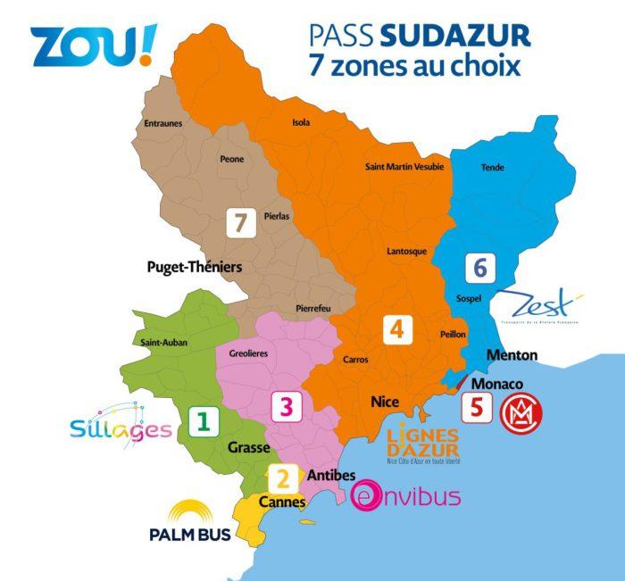 Пасс СюдАзюр - транспортная карта Лазурного Берега